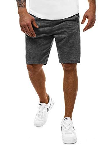 OZONEE Herren Sporthose Kurz Shorts Sweatpants Trainingshose Kurze Hose Bermuda Sportshorts Jogginghose Freizeithose Laufshorts Sweatshorts Herrenhose Sport 777/328S DUNKELGRAU XL