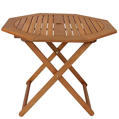 Sunnydaze Meranti Wood Octagon Outdoor Folding...