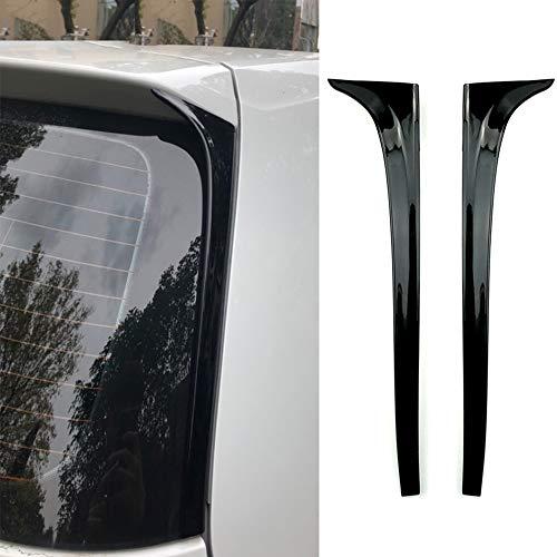 GOINUS ABS Seitenfenster hinten Spoiler Heckspoiler für VW Golf 7 Rline R-line 2013-2019, Auto Heckscheibe Canard Spoiler Luftverteiler, 3M Klebstoff Installation, glänzend schwarz