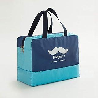YKDY Fashion Men and Women Travel Waterproof Storage Bag Oxford Cloth Travel Bag Swimming Bag Beach Bag(Blue Beard) (Color : Navy Blue Beard)