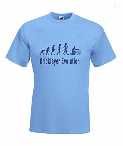 art2tshirt Evolution para albañil Camiseta Funny mampostería Brickie SM Camiseta, Tallas a 2x XL SK Blue Medium