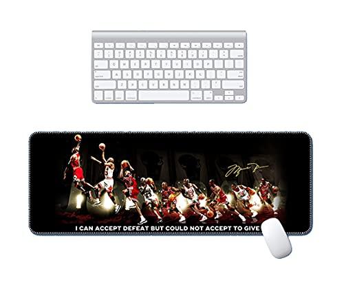 EODPOT Mauspad mit ḱóbé háŕdén měssǐ Muster, Mauspad Premium-texturiert, wasserdicht, rutschfeste Gummi-Basis Mousepad für Laptop-Computer-PC-Büro mit genähter Kante D-30x90x0.3cm