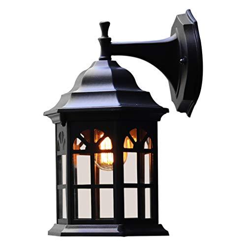 Fire cloud wandlamp, lamp, industriële kooi, wandlamp, vintage-stijl, wandlamp voor hoofdeinde, slaapkamer, nachtkastje, veranda, badkamer, wastafel, mat zwart