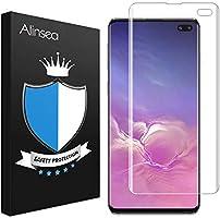 Alinsea Screen Protector for Galaxy S10 Plus Tempered Glass [Full Adhesive] [Fingerprint Sensor Compatible] [3D Glass]...