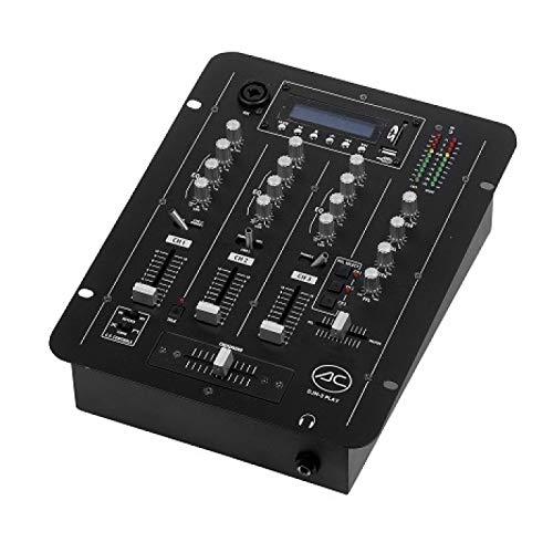 Acoustic Control DJM-3 Play Mezclador de 7 entradas con 3 Canales mezclables y Reproductor MP3 Incorporado