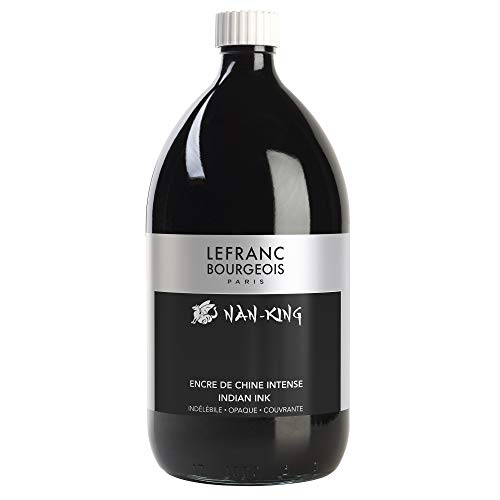Lefranc & Bourgeois 59077 - Bote de tinta de 1 litro, negro