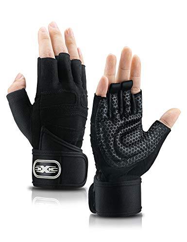 TENOL Cycling Gloves Bike Gloves Mountain Road Bike Gloves Anti-slip Shock-absorbing Pad Breathable Half Finger Bicycle Biking Gloves for Men & Women (Black, L)