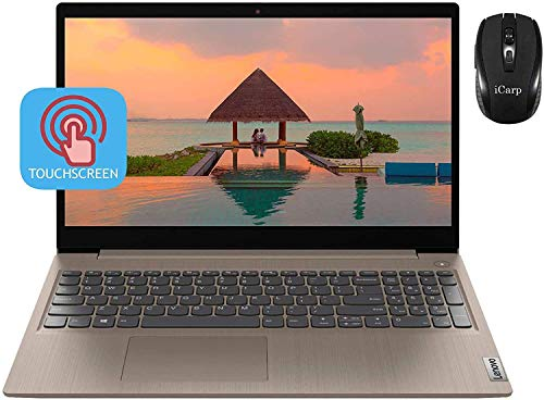 "2020 Premium Lenovo IdeaPad 3 Laptop 15.6"" HD Touchscreen 10th Gen Intel Core i3-1005G1 (Beats i5-7200U) 8GB RAM 256GB SSD WiFi USB 3.0 Dolby Win 10 + iCarp Wireless Mouse"