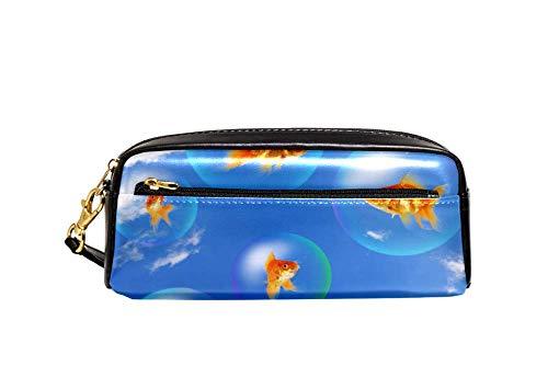 Bennigiry Goldfish und Aquarium, großes Fassungsvermögen, Federmäppchen für Kinder und Studenten, Reisetasche, kleine Kosmetiktasche
