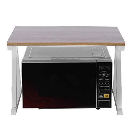 Estante de la cocina Rack, estante para horno microondas, estante de cocina, estante de cocina, estante de Spice Rack, 57 x 38 x 38 cm (blanco)