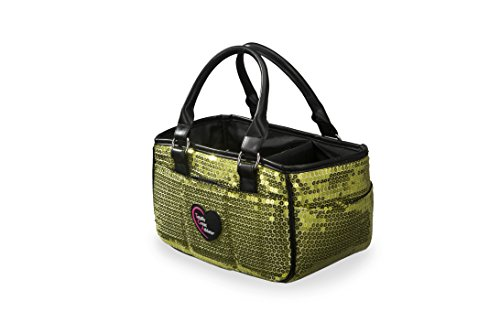 TGA Products Green Sequin Ice Skating Bag Tennis Gym and Ballet Girls Athletic Bag