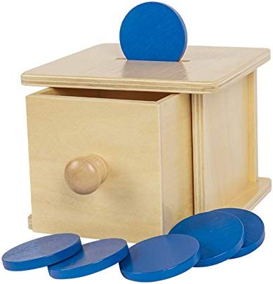 Montessori Coin Box Toys for Toddlers 8-24 Months Babies