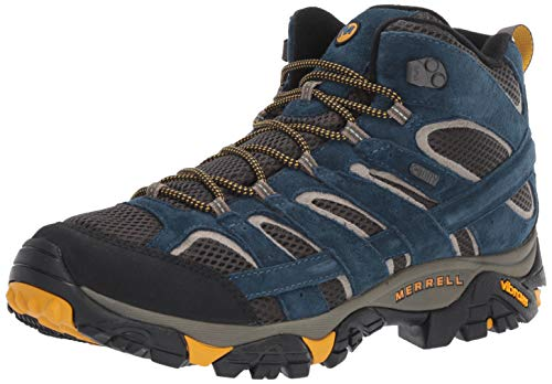 Merrell Men's Moab 2 MID Waterproof Hiking Shoe, Olive Blue, 11.0 M US