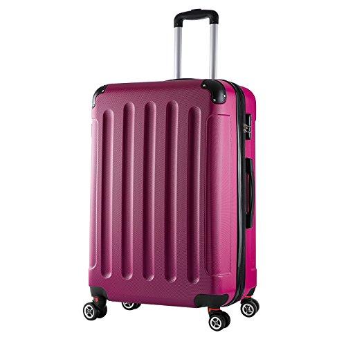 WOLTU RK4203pk, Reise Koffer Trolley Hartschale Volumen erweiterbar, Reisekoffer Hartschalenkoffer 4 Rollen, M/L/XL/Set, leicht und...