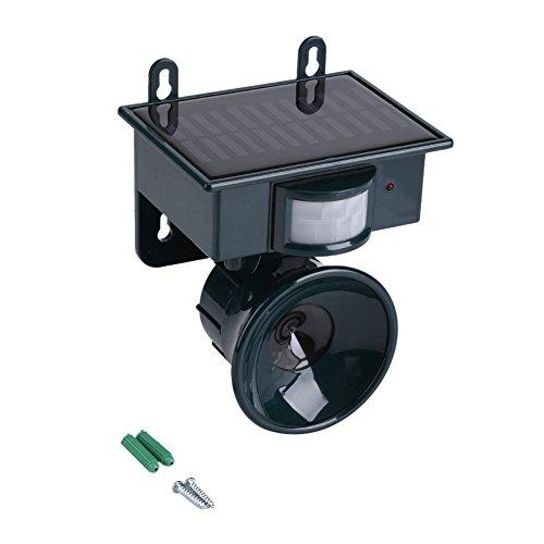 Tonysa Repelente ultrasónico Repelente ultrasónico de pájaros, Sensor de Movimiento PIR con energía Solar Repelente ultrasónico de plagas Bird Dog Cat Fox Mouse Chaser para Exteriores