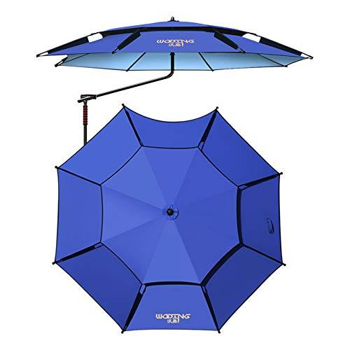 ACXZ Sombrilla de Patio Colgante de 2,2 m, Parasol de jardín Azul Voladiza, Sombrilla de balcón de 2 Niveles con ventilación, Paraguas de Pesca Octogonal (2 m, 2,4 m)