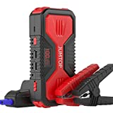 JUMTOP QDSP 1200A Peak 12000mAh Portable Car Jump Starter (7.0L Gas/5.0L Diesel) Auto Battery Booster Power Bank Phone Charger with Dual USB Smart Charging Port & 3 Mode LED Flashlight