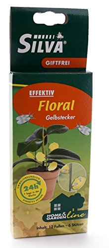 Silva Floral gele steker lijmborden voor effectieve bestrijding van schevliegen & witte vliegen