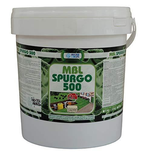 MBL SPURGO 500 – kg. 5 Attivatore biologico in polvere per lo spurgo di fosse e tubazioni, contiene un misurino per il corretto dosaggio - (500 milioni di microrganismi per grammo)