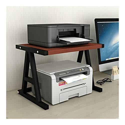 Desk Side Printer Shelf Desktop Stand for Printer Desktop Shelf for Space Organizer(Hardware and Steel)Storage Shelf, Book Shelf, Double Tier Tray for Mini 3D Printer Mobile Printer Cart