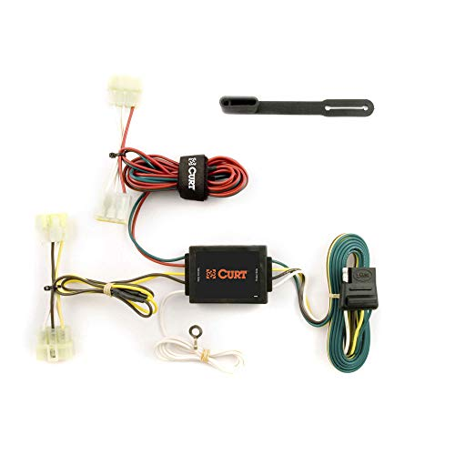 CURT 55379 Vehicle-Side Custom 4-Pin Trailer Wiring Harness for Select Toyota Pickup Trucks, Tacoma