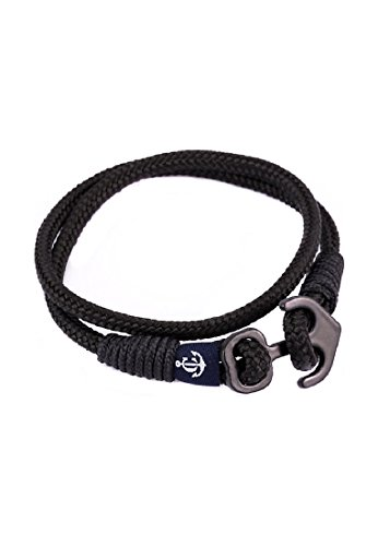 Constantin Nautics Unisex-Armband Kunststoff/Edelstahl 17 Schwarz 32005292