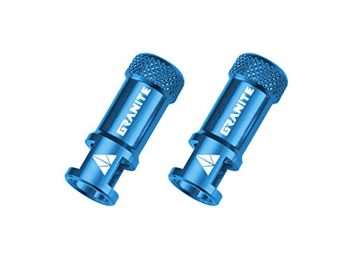 Granite Juicy Nipple Valve Cap with Valve Core Removing Function, Bike Tire Caps Dust Covers (Blue)