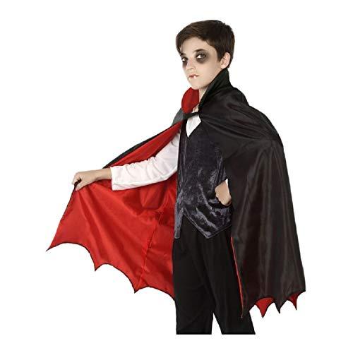 Atosa Cape de Vampire Noire Rouge Enfant