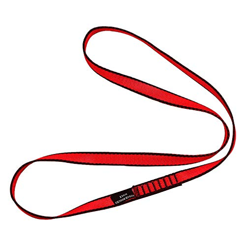 DASKING 18 mm Nylon Climbing Sling Runner 23kn Correa de escalada para escalada al aire libre, hamaca de yoga, cuerda de trabajos de construcción, actividades al aire libre (rojo), 60 cm