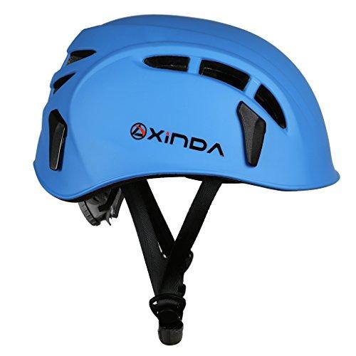 品 ハーフドーム ライミング用ヘルメット登山用ヘルメット防護帽 キャンプ アウトドア 装備 旅行用品 釣り帽子救援 青