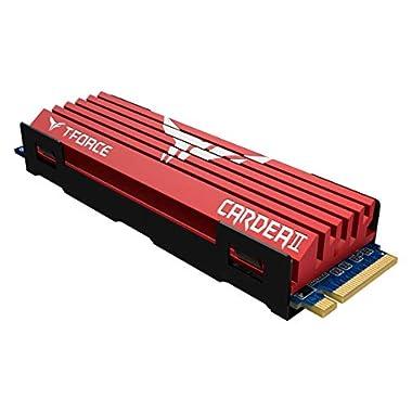TEAMGROUP T-Force CARDEA Zero Z44L 500GB Support SLC Cache with Graphene Copper Foil 3D NAND TLC NVMe PCIe Gen3 x4 M.2…