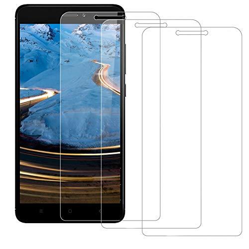 BOBI Protector de Pantalla para Xiaomi Redmi Note 4X Vidrio Templado, 9H Dureza, Alta Definición, Cristal Templado para Xiaomi Redmi Note 4X - 3 Piezas