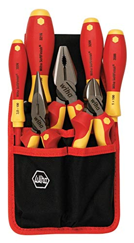 Wiha 32985 7 Piece Insulated Industrial Pliers/Cutters/Drivers Belt Set