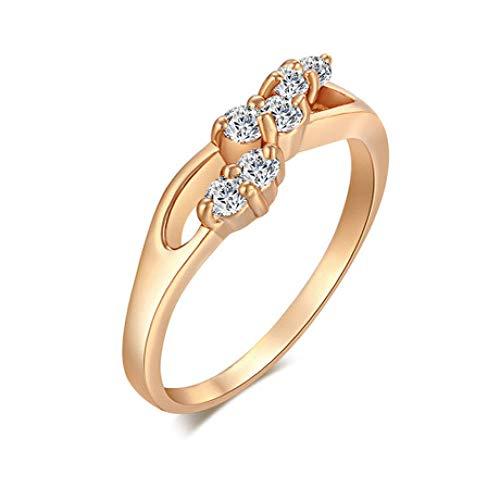 Aligeya Zirkon Ring Dame, Promis-Ring, ewiger Ring Zirken-Zirken-Hand Schmuck