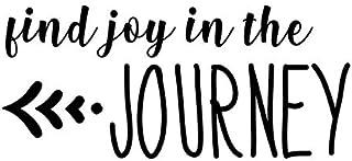 Find Joy in The Journey NOK Decal Vinyl Sticker |Cars Trucks Vans Walls Laptop|Black|5.5 x 3.25 in|NOK408