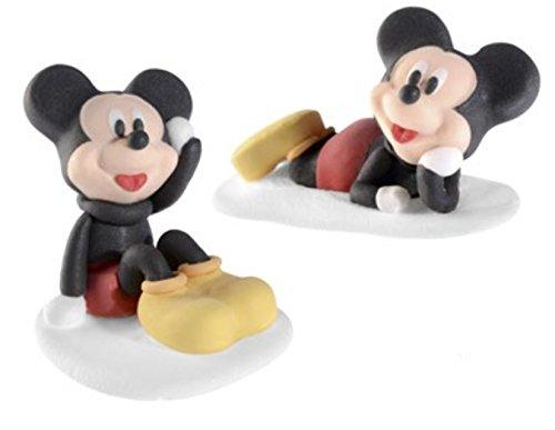 Dream' s Party Soggetti in Zucchero Personaggi Topolino 3D - Topolino Mickey Mouse - Decorazione per Torta e Dolci in Zucchero - 2 sogetti