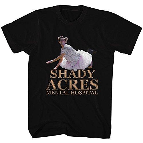 Ace Ventura Pet Detective Comedy Movie - Camiseta para adulto con tutú Shady Acres - negro - 4X-Large