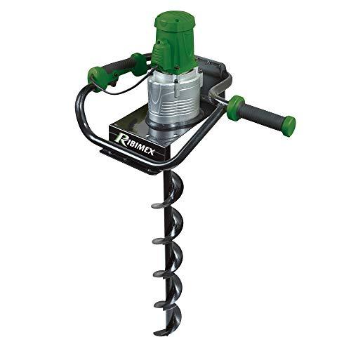 RIBILAND 05317Erdbohrer Elektrische 1200W + Docht grün Durchmesser 15cm