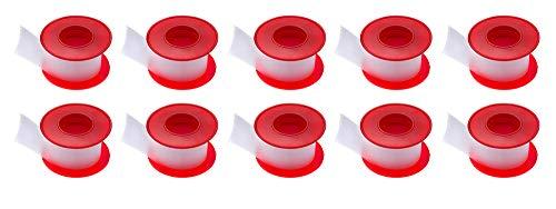 varivendo Rollenpflaster Figo Fixierpflaster transparent 2,5cm x 5m + 1 Notizblock von Westerwald-Shop (10 Rollen)