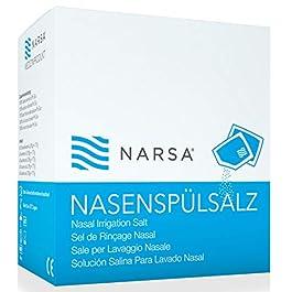 NARSA 60x Sel de rinçage nasal pour Douche Nasale Irrigateur & Nettoyant Nez · Sel pour NARSA Kit douche nasal · Idéal…