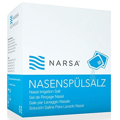 60x neusspoelzout · groot voorraadpakket · praktische zakjes · NARSA® neuszout voor de neusdouche