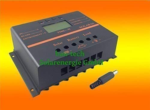 80A Solar LCD Laderegler Photovoltaik 12V/24V auto. für Solarpanel Solar Montage von bau-tech Solarenergie GmbH