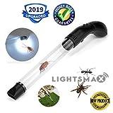 LIGHTSMAX Pest Control, Humane Spider Catcher Traps Bug LED Light, Vacuum Spider Catcher Traps Bugs Crawl (Black)