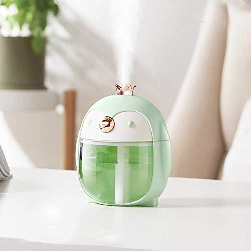 Coner Retro Air Humidifier 200ML Mini Diffuser USB Aromatherapy Aroma Diffuser Home Mist Maker Fogger With Led Light,300ML Green