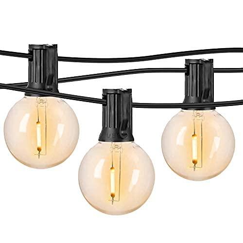Cadena de luces LED para exteriores, iluminación de patio de 25 pies irrompible, 2700 K, luz blanca cálida, impermeable al aire libre, 5 m