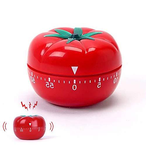 INTVN Eieruhr Apfel, Mechanisch Küchentimer Apfel lustige Eieruhr Edelstahl Kurzzeitmesser ADE Mechanischer Küchentimer Laut 80 dB