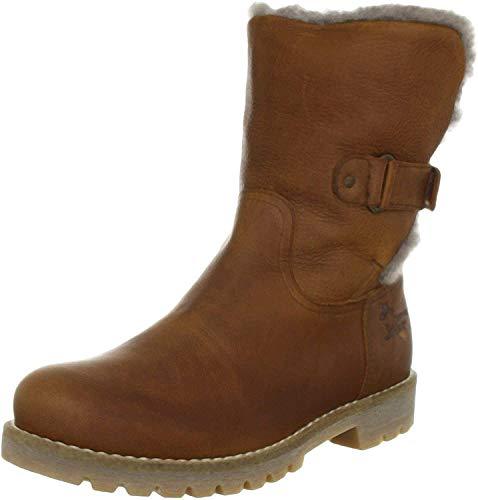 Panama Jack Felia Igloo Damen Warm gefüttert Biker Boots Halbschaft Stiefel & Stiefeletten, Braun (Bark B4), 40 EU (7 Damen UK)