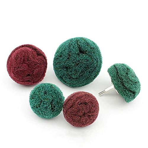 kengbi Varias Aplicaciones Flap Wheel Rueda de la Solapa, 1pcs 50mm-100mm bordal de la Banda de la Banda de la Solapa Lijado Abrasivo MOP 6mm Shank para el Taladro (Color : Green Coarse, Size : 70mm)