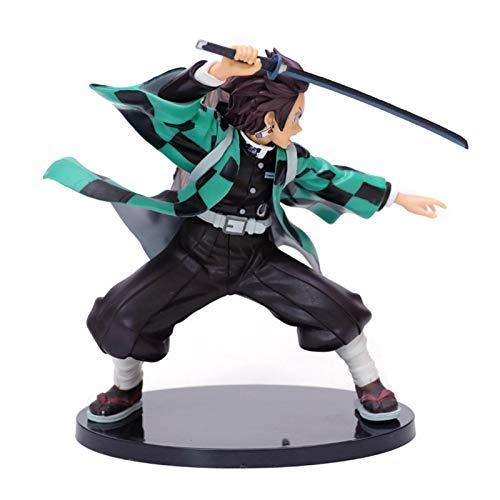 Allowevt Figuras de acción de Demon Slayer Tanjiro Kamado Figura de acción de 20 cm PVC Modelo de Personaje de Anime Estatua de pie Anime Demon Slayer Figura Juguete de Regalo para decoración Ideal