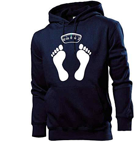 Generisch shirt84.de - Sudadera con capucha para hombre con diseño de pies sobre una báscula azul marino L